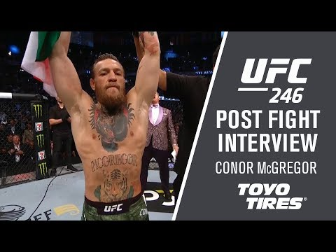 """UFC 246: Conor McGregor – """"I was ready to utilize all my weapons"""""""