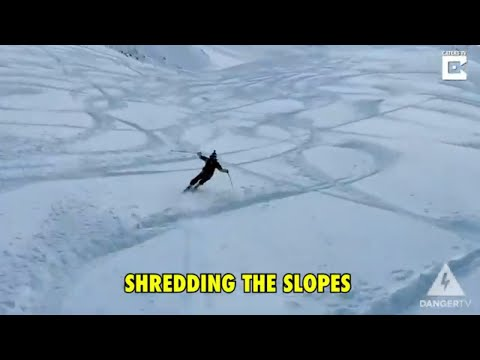 Skier vs Speedrider Race Down the Slopes | Extreme Sports
