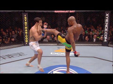 Все финиши фронткиком в истории UFC