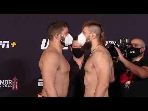 UFC Vegas 4: Weigh-in Faceoffs
