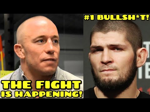 "NEW DETAILS on Georges St. Pierre vs Khabib: ""The fight IS HAPPENING, GSP is GOING TO BEAT Khabib!"""