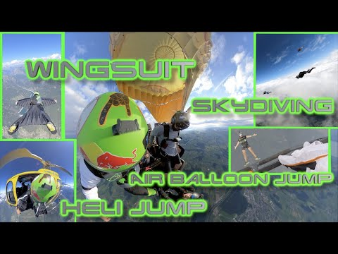 Extreme Sports | Wingsuit – Heli Jump – Skydiving – Air Balloon Jump | PAT