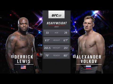 Free Fight: Derrick Lewis vs Alexander Volkov | Call of Duty® Free Fight Series