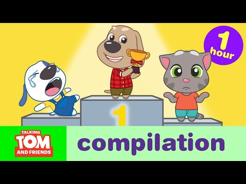 Action, Sports, and Games! Talking Tom and Friends Minis Cartoon Compilation