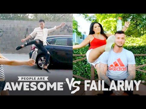 Bottlecap Kick Challenge Wins Vs. Fails & More! | PAA Vs. FailArmy