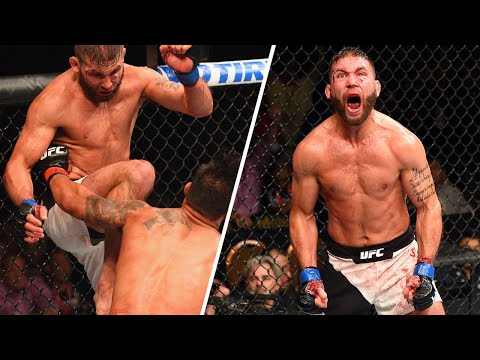 Jeremy Stephens' Stunning Flying Knee KO at UFC 189