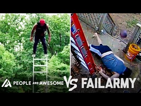 Man Vs Ladder  … Ouch!   People Are Awesome Vs. FailArmy