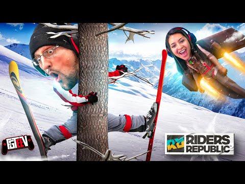 ALMOST DIED IRL, True Story Inside! Hilarious EXTREME Sports: FGTeeV Duddz vs Moomy Riders Republic