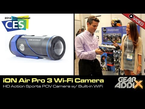 iON Air Pro 3 WiFi HD Action Sports POV Camera (CES 2014)