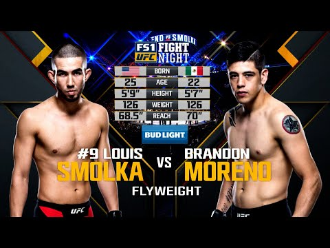 UFC Debut: Brandon Moreno vs Louis Smolka   Free Fight