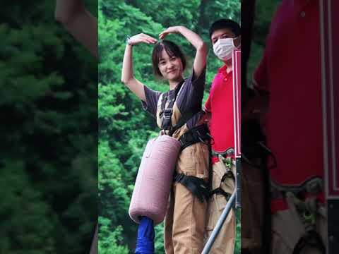 bungee jumping丨Extreme sports  #Bungee jumping  #beauty