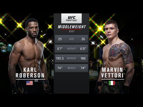 UFC Vegas 41 Free Fight: Marvin Vettori vs Karl Roberson